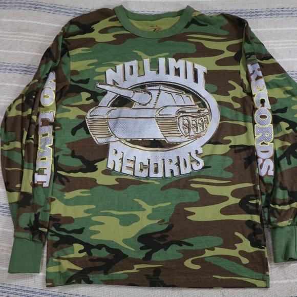 0f8eeb35 Rothco Shirts | No Limit Records Silver Tank Camo Tee Shirt | Poshmark
